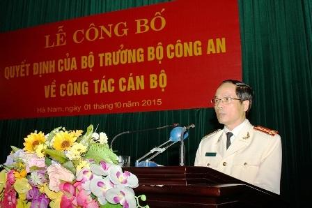 Đại tá Phạm Hồng Tuyến, Giám đốc Công an tỉnh Hà Nam (ảnh Công an Hà Nam)