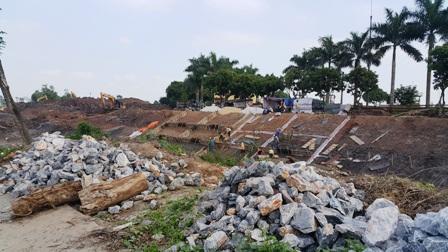 UBND huyện Thanh Liêm yêu cầu công ty thi công phải tìm giải pháp thi công an toàn