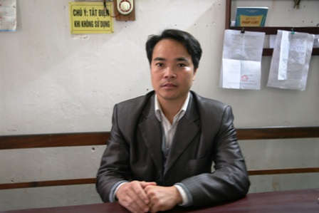Ông Nguyễn Văn Hiệp, Phó trưởng Công an xã Châu Sơn, huyện Duy Tiên