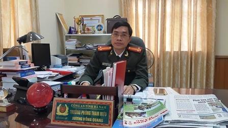Trung tá Dương Hồng Quang, Trưởng phòng Tham mưu Công an tỉnh Hà Nam
