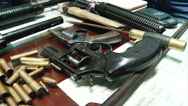 Số súng, đạn cơ quan Công an thu giữ được của Phúc