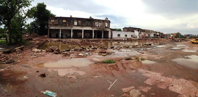 Nhà máy Dệt Nam Định đang được phá bỏ