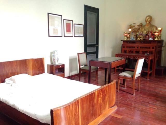 Căn phòng ở Bảo tàng Dệt may được Bác Hồ đến ở 3 lần