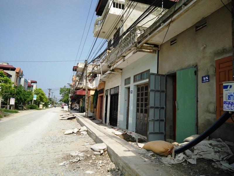 Một đoạn khu dân cư trước đây xã Yên Thắng bán đất trái thẩm quyền