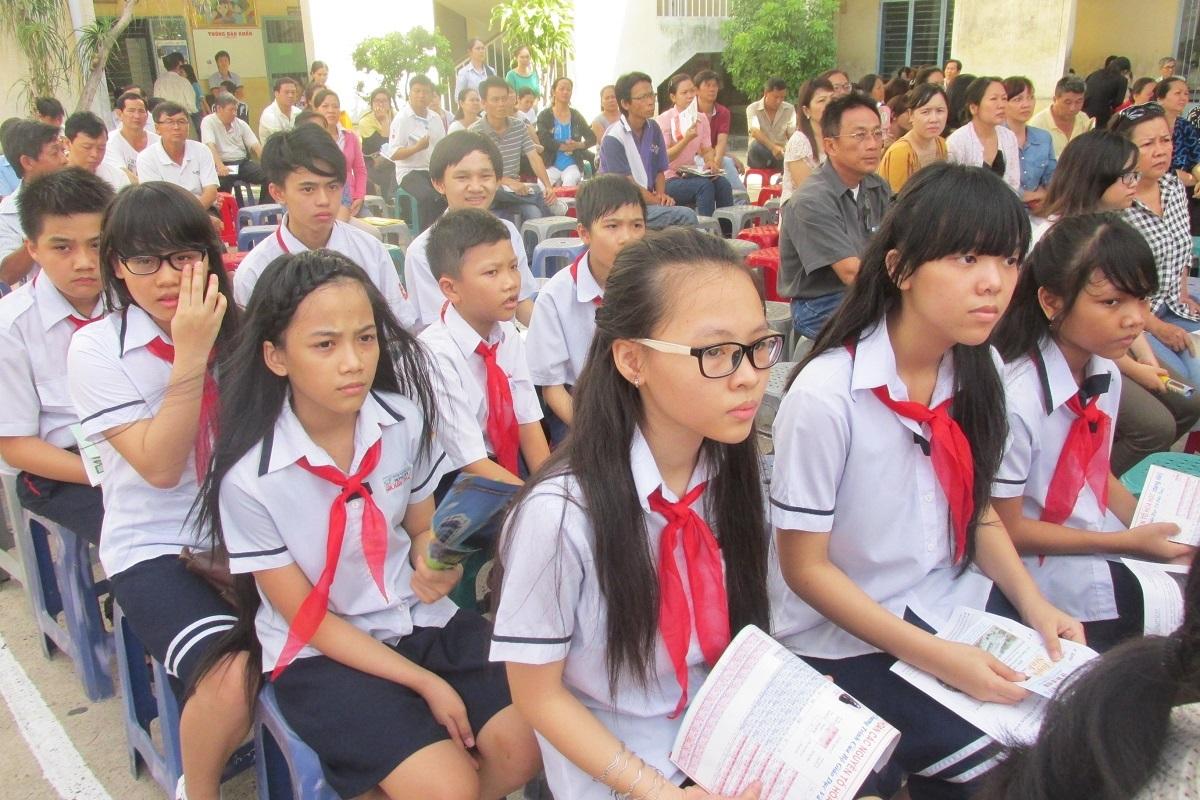 Đầu năm học, học sinh TPHCM đều đã đóng xong tiền BHYT