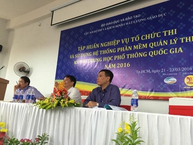 Hội nghị tập huấn nghiệp vụ công tác thi THPT quốc gia 2016 diễn ra tại TPHCM