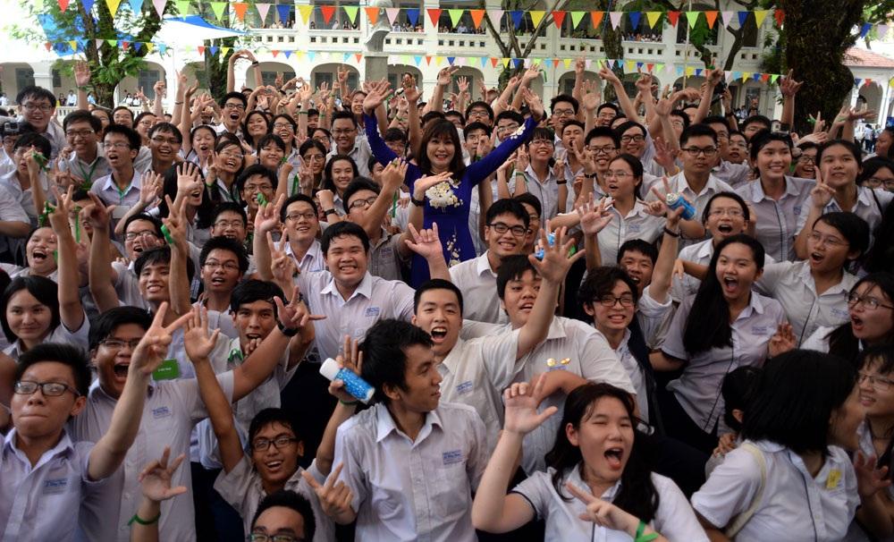Trường THPT chuyên Lê Hồng Phong là một trong các trường có nhiều học sinh được tuyển thằng vào ĐH Quốc gia TPHCM (ảnh Nguyễn Quang)