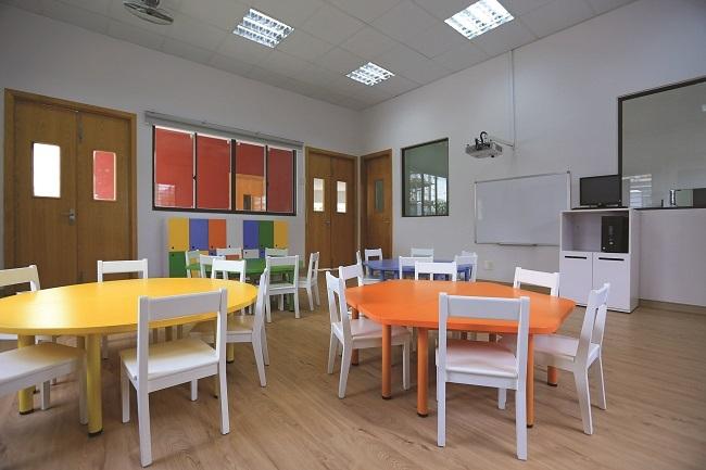 Cơ sở này có 80 phòng học được trang bị đầy đủ thiết bị hiện đại