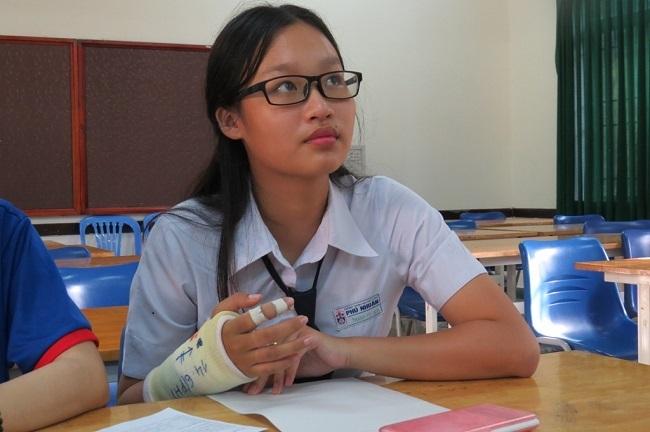 Thí sinh Lê Ngọc Thanh Vy được bố trí thi tại một phòng riêng