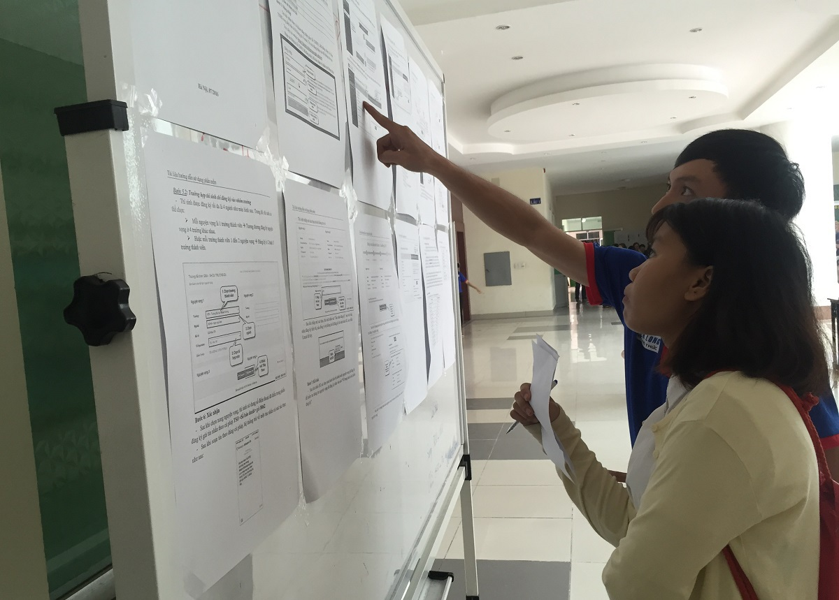 Thi sinh được hướng dẫn cách thức đăng ký xét tuyển tại trường ĐH Sư phạm TPHCM