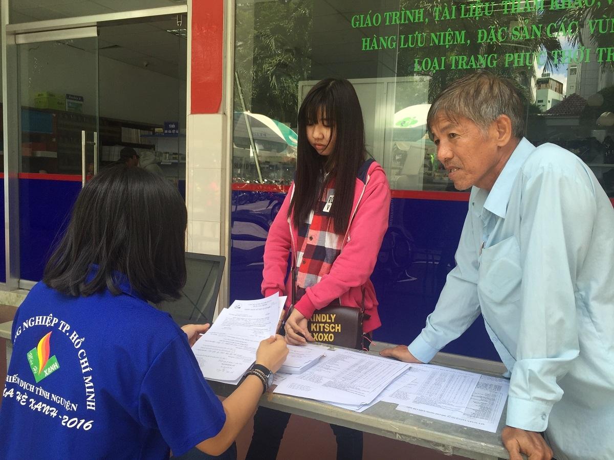Đăng ký xét tuyển vào ĐH tại một trường ĐH ở TP.HCM