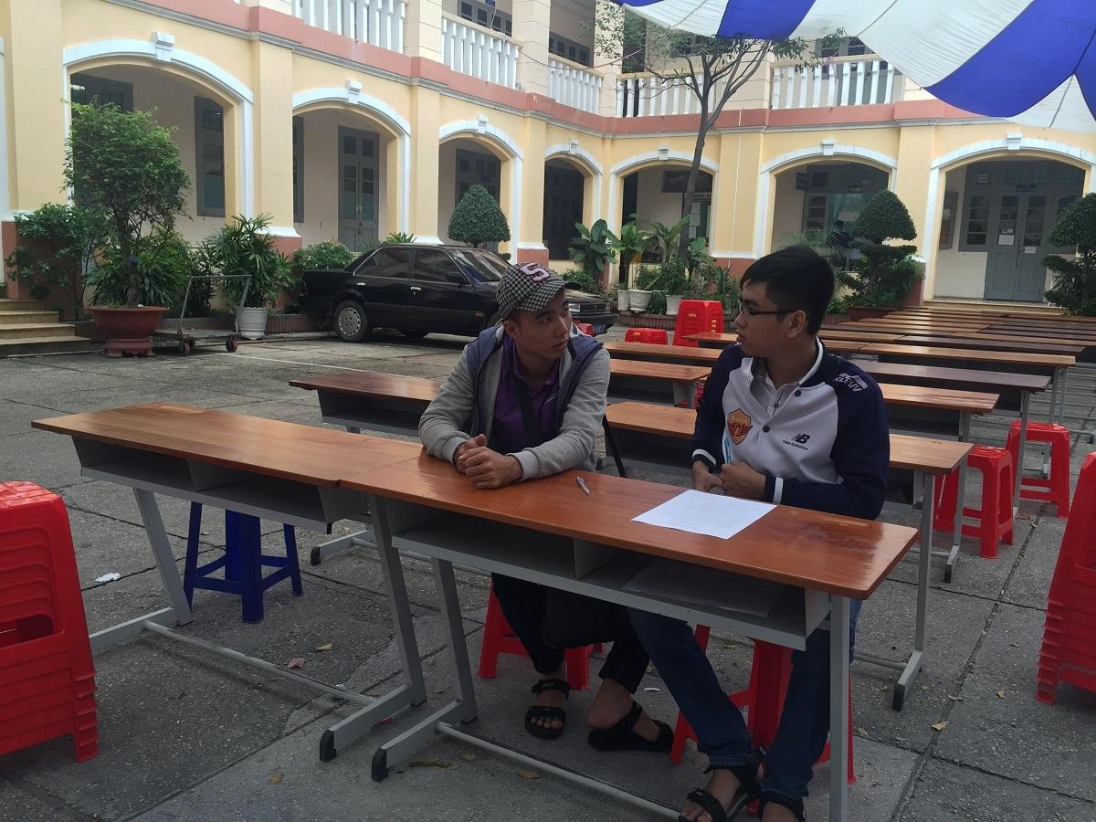 Khu vực nhận hồ sơ xét tuyển của trường ĐH Sài Gòn vắng hoe thí sinh