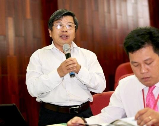 PGS.TS Hà Minh Hồng phát biểu trong một hội nghị (ảnh: Trường ĐHKHXH&NV TPHCM)