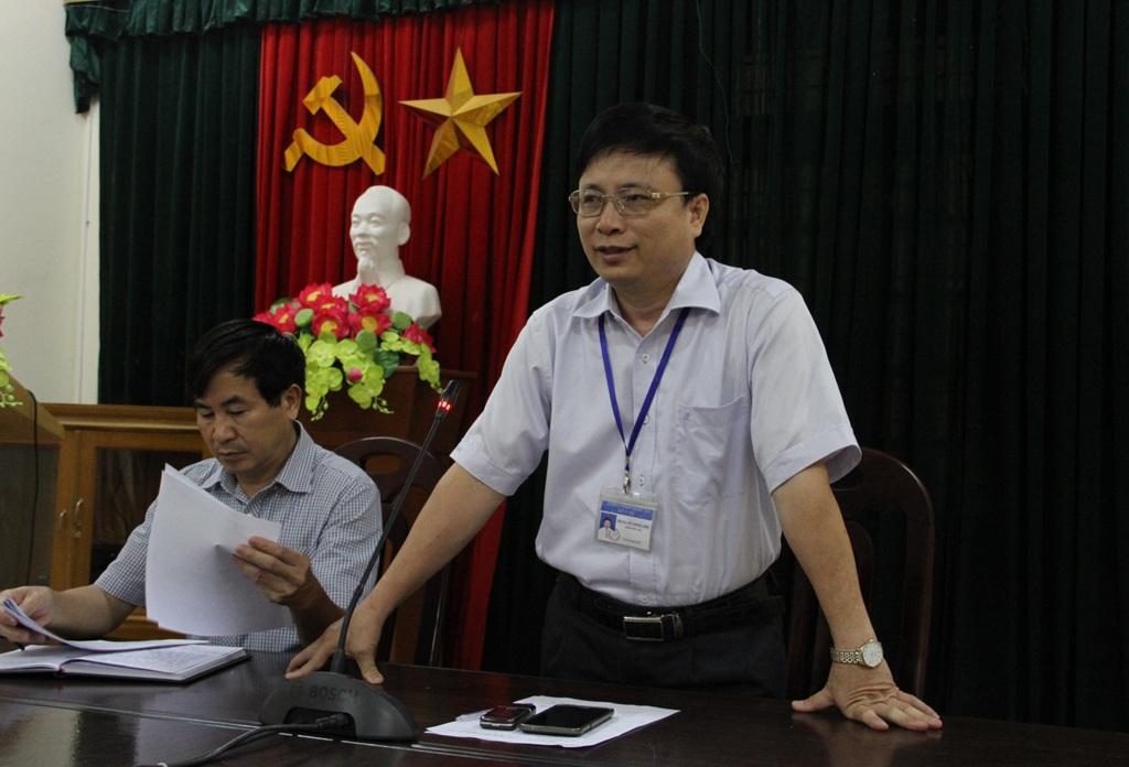Ông Bùi Đình Long - Giám đốc Sở Y tế Nghệ An cung cấp thông tin vụ việc.