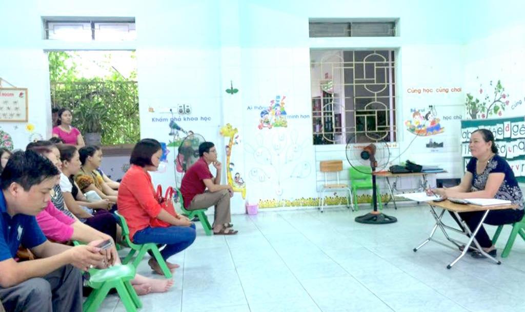 Một buổi tổng kết năm học 2016 của các em lớp mẫu giáo lớn tại TP Vinh (Ảnh: Nguyễn Duy)