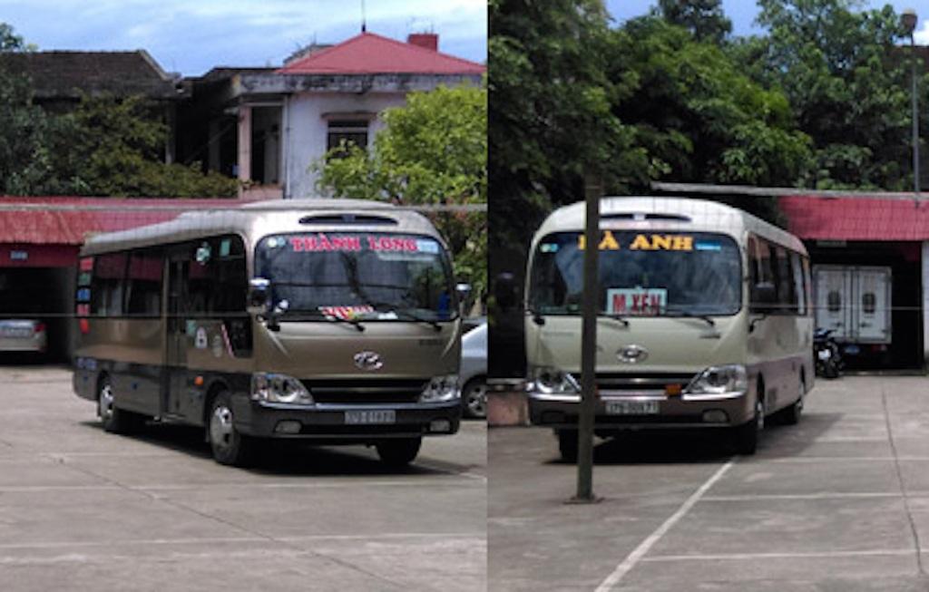 Hai chiếc xe được cơ quan công an đưa về trụ sở làm rõ.