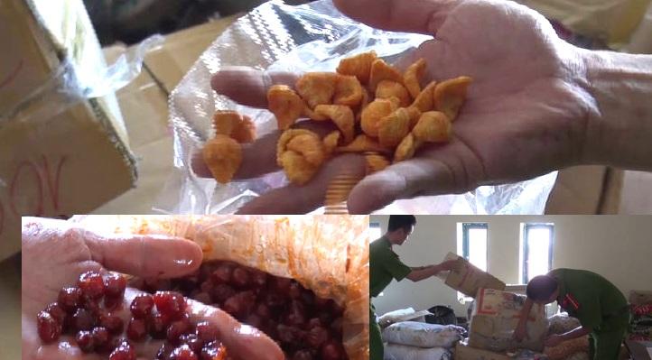 Khối lượng lớn thức ăn và nguyên liệu chế biến thức ăn cho trẻ em có nguồn gốc xuất xứ từ Trung Quốc.