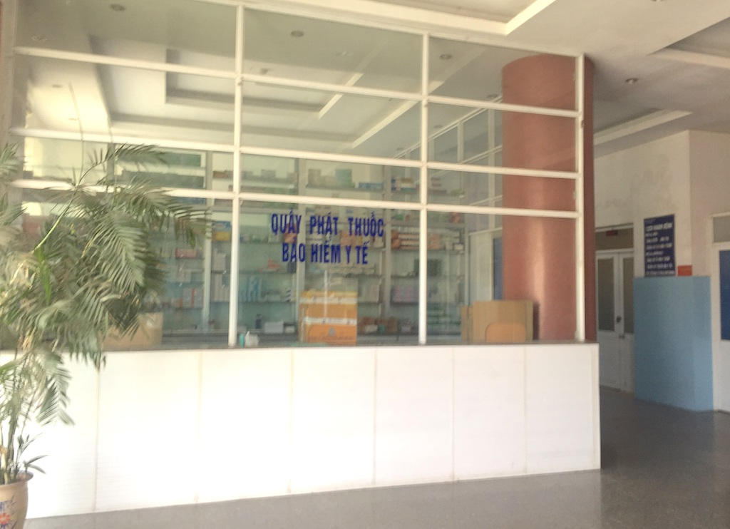 Quầy phát thuốc bảo hiểm cũng đã bị đóng cửa, niêm phong.