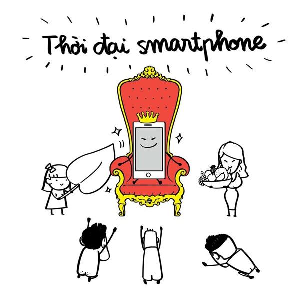 Bộ ảnh Chào mừng bạn đến với thời đại smartphone của nhóm tác giả Lê Bích.