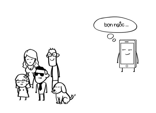 Biếm họa về sự phụ thuộc của giới trẻ vào smartphone - 10