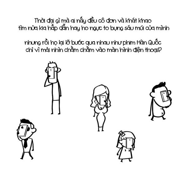 Biếm họa về sự phụ thuộc của giới trẻ vào smartphone - 8
