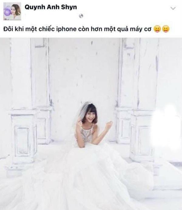 Status của Quỳnh Anh Shyn bị cho rằng mỉa mai ê-kip nhiếp ảnh