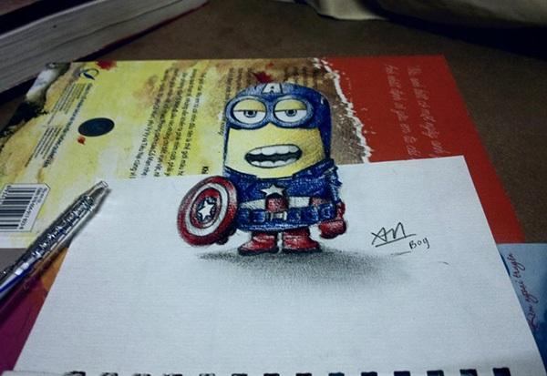 Những bức tranh bằng bút bi cũng thật không kém