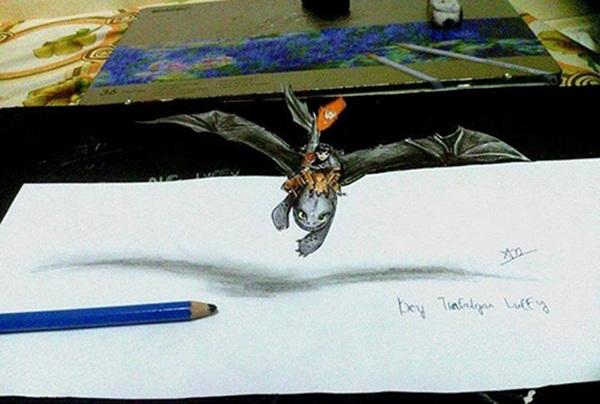 Nam sinh 16 tuổi có tài vẽ tranh 3D sống động - 10