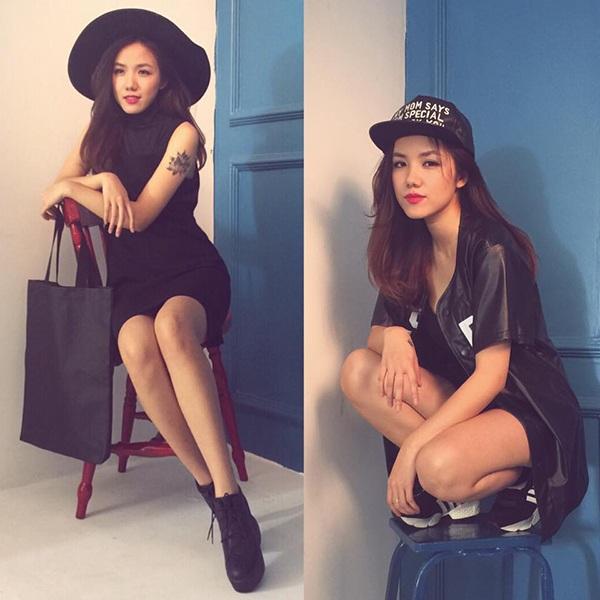 Vẻ đẹp cá tính và bí ẩn của Phương Ly không thể lẫn với bất cứ hot girl nào khác