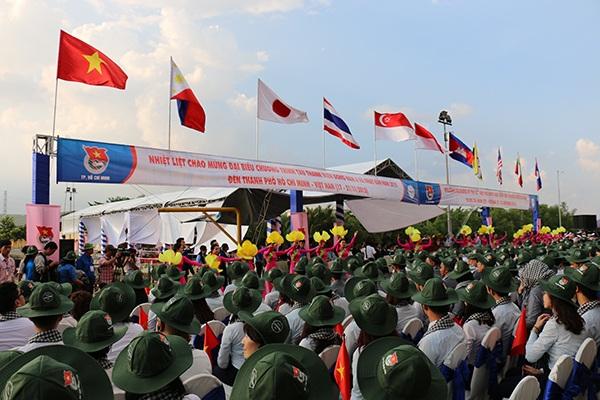 Toàn cảnh lễ đón đoàn đại biểu thanh niên quốc tế tại TP.HCM