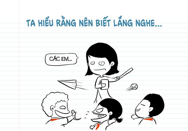 Thầy cô dạy ta luôn viết lắng nghe