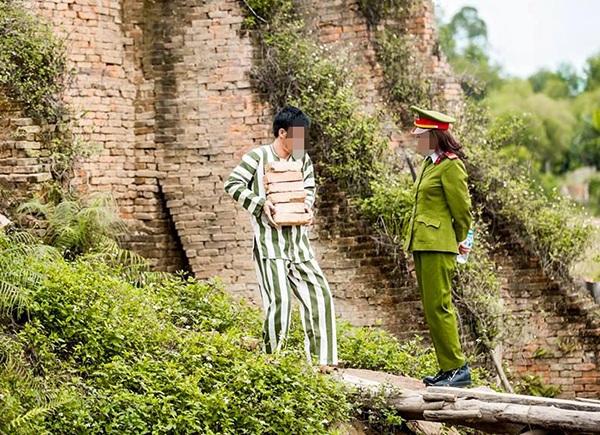 Hình ảnh trong bộ ảnh cưới gây tranh cãi của cặp đôi sống ở Thái Nguyên
