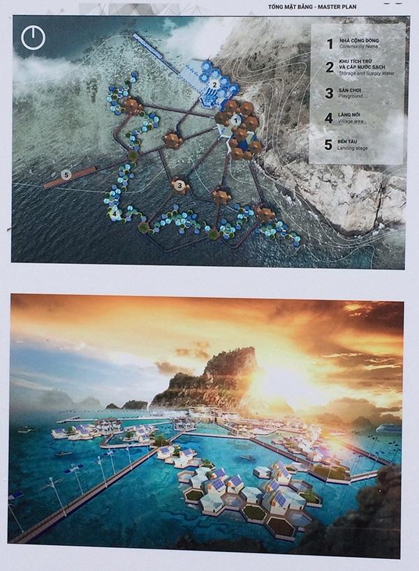 Đồ án làng nổi trên đảo đá chìm của Sơn Tùng