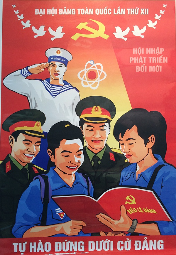 Tự hào đứng dưới cờ Đảng của Ngô Đức Chung