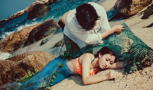 Đây chính là bức ảnh gây xôn xao rằng bắt được nàng tiên cá ở Quảng Nam