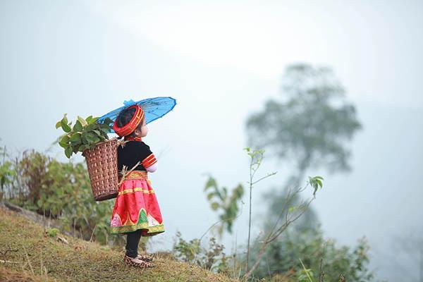 Bé gái Hà Giang xúng xính trang phục dân tộc đón Tết Bính Thân - 4