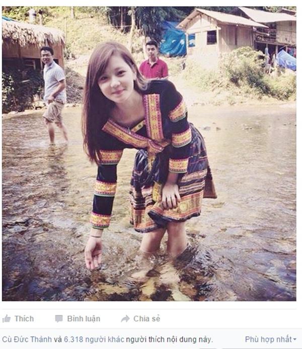 Bức ảnh của Thu Hương gây sốt trên mạng xã hội