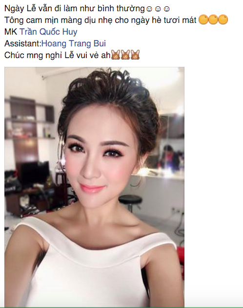 Kelly Nguyễn vẫn phải đi chụp ảnh trong khi bạn bè đi chơi, nghỉ lễ