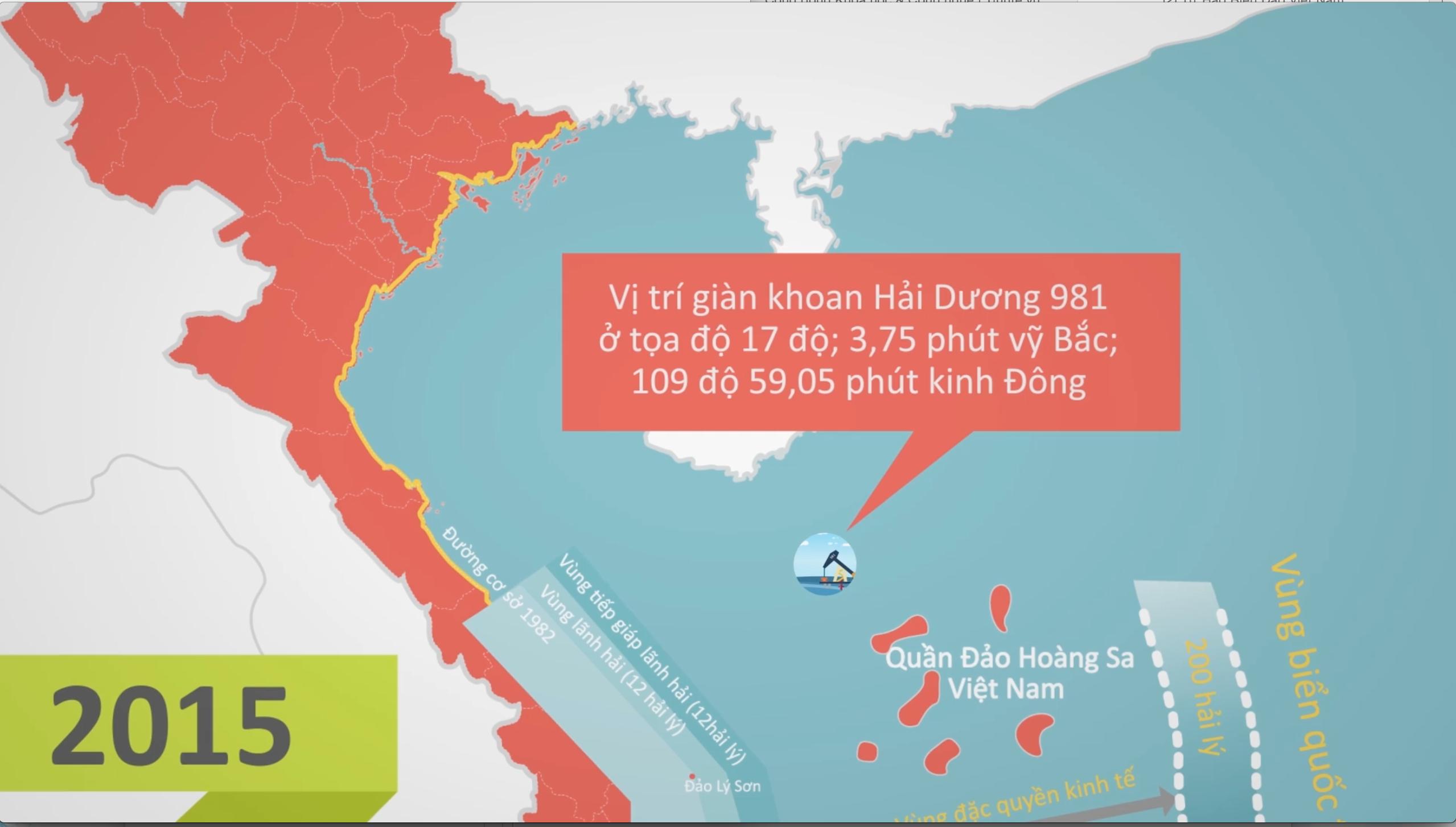 Hình ảnh những lần lãnh hải Việt Nam bị vi phạm cũng được thể hiện rõ nét với nguồn thông tin chính xác