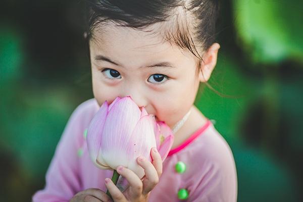 Cô bé hiện đang học trường mầm non Kim Lan, Gia Lâm, Hà Nội.