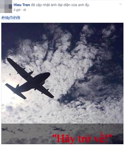 Hình ảnh của tác giả Mỹ Trà được nhiều người chia sẻ trên mạng xã hội cùng với thông điệp Hãy trở về