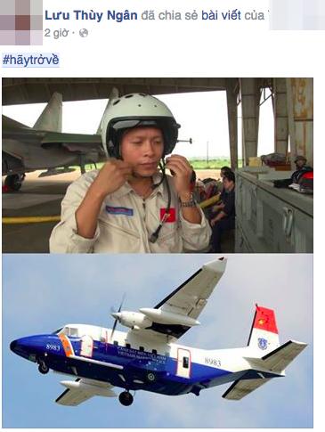 """Hashtag """"Hãy trở về"""" cầu nguyện cho tổ bay CASA-212 phủ khắp mạng xã hội - 5"""