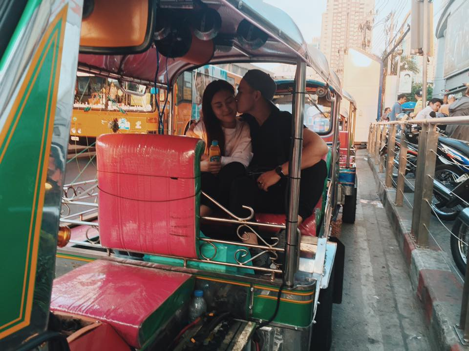 Hà Lade và bạn trai ở Thái Lan