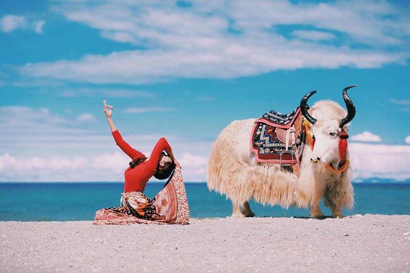 Một hình ảnh khác ở hồ Namtso, Tây Tạng trên độ cao hơn 4700m