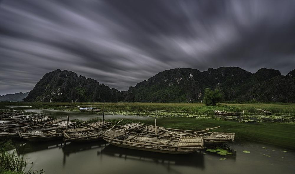 Bức ảnh này được chụp trước khi cơn bão số 1 ập tới tại Vân Long, Ninh Bình.