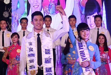 Hoàng Đức Tuấn và Vũ Thị Thanh Mai đăng quang cuộc thi Tài sắc Phương Đông 2014