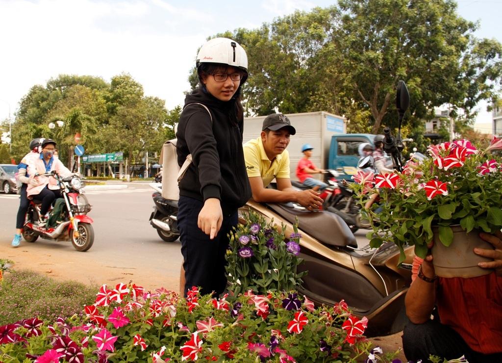 Người dân bắt đầu mua hoa trưng 3 ngày Tết