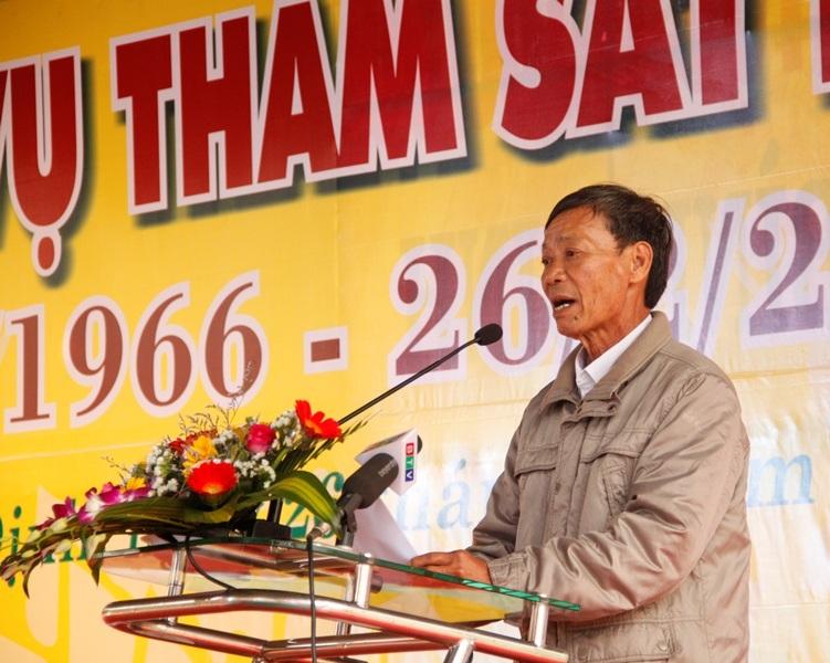 Ông Nguyễn Tấn Lân (ở xã Tây Vinh) - nhân chứng sống trong vụ thảm sát không bao giờ quên được giây phút kinh hoàng đó.