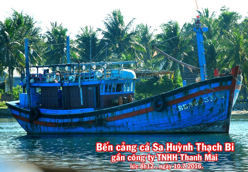 Gia đình ông Hùng cũng cho rằng, sau khi gia đình báo Chi cục THADS huyện Hoài Nhơn thì bất ngờ chiếc tàu cá này di chuyển ra cảng cá Sa Huỳnh - Thạch Bi (tỉnh Quảng Ngãi)