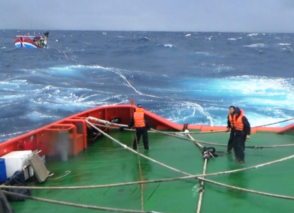 Hàng loạt tàu cá của ngư dân tỉnh Bình Định gặp nạn trên biển (ảnh minh họa)